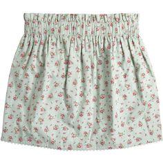 Roseberry Skirt (225 MYR) ❤ liked on Polyvore featuring skirts, bottoms, saias, scalloped skirt, cotton skirt, jack wills, green cotton skirt y cotton elastic waist skirts