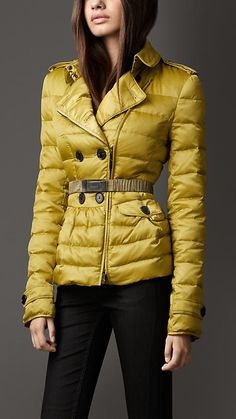 Down-Filled Peplum Jacket | Burberry