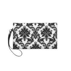 Damask clutch - purse - makeup bag - tote