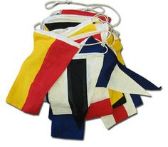 "Buy Nautical Flag Set 40' - Cotton | Flagline www.flagline.com/flags/nautical-flag-set-40-cotton $89.00   10"" x 16"" eacg ib a 40' string"