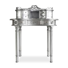 Adelle Desk Silver by Fabulous & Baroque