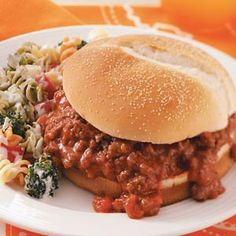 spicy salsa sloppy joes! So easy and the family loved it! Used only 1 cup of mild salsa and 2 tbsp. brown sugar! Great weeknight meal!