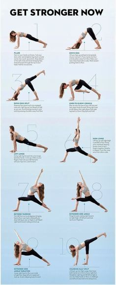 Yoga moves, since I'm bad at coming up with my own routine.