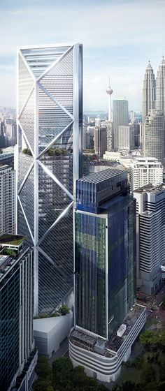 Ilham Baru (IB Tower), Kuala Lumpur, Malasya by Foster + Partners Architecture :: 62 floors, height 298m