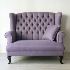 Classic Wingback Sofa (パープル)☆在庫わずか☆ - インテリアショップ・キノ Interior shop kino:アンティークオブジェやヨーロッパの家具・雑貨