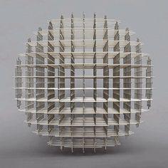 'Sphere – trames' (1962) by French artist François Morellet (b.1926). via Minus Space