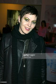 Joan Jett during Olympus Fashion Week Fall 2004 - Cynthia Steffe - Front Row at Studio at Bryant Park in New York City, New York, United States.