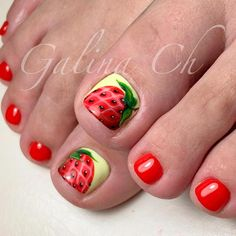 Looking for new and creative toe nail designs? Let your pedi always look perfect. We have a collection of wonderful designs for your toe nails that will be appropriate for any occasion. Be ready to explore the beauty and endless creativity of nail art! Pedicure Nail Art, Pedicure Designs, Toe Nail Designs, Toe Nail Art, Pedicure Ideas, Gel Nail, Pretty Toe Nails, Cute Toe Nails, Pretty Toes