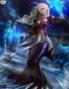 Artist: Unknown - Title: Unknown - Card: Celine the Frozen Princess (Cost)
