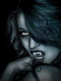 Photographer: Justin Kates. Model: Cora Dietz. Vampire Fangs: Greyson Wolf.