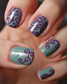 It's as easy as this: paint your nails whatever color you want them, then get a sharpie and draw these awesome swirls (or whatever design you want) on your nails once they're dry!