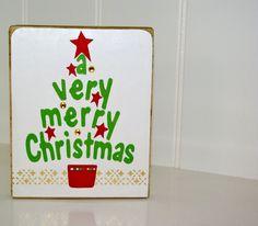 Very Merry Christmas #Christmas #tree #block #merry #gift