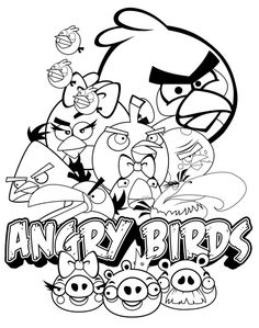 Kolorowanka do druku dla dzieci z gry Angry Birds #angrybirds #kolorowanka #dzieci #czaswolny #malowanki #kolorowanki Bear Coloring Pages, Coloring Pages For Boys, Cartoon Coloring Pages, Disney Coloring Pages, Free Printable Coloring Pages, Coloring Books, Kids Coloring, Coloring Sheets, Mario Kart