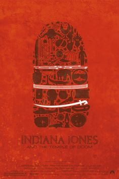 Indiana Jones trilogy poster by French graphic designer Maxime Pecourt