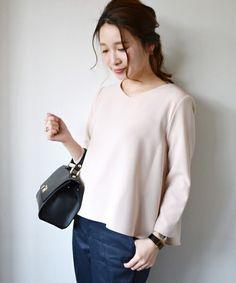 SHIPS for women dress(シップスフォーウィメンドレス)の【手洗い可能】 フレアブラウス311100256(pink)(シャツ/ブラウス)|ピンク