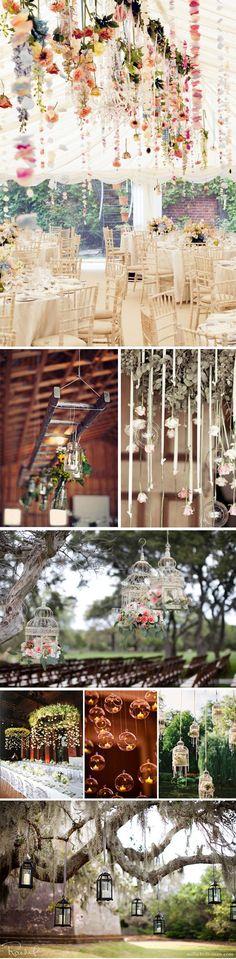 Preciosa decoración colgante en tu boda: