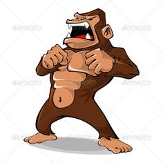 Angry Gorilla #GraphicRiver Illustration of angry gorilla, it can be used as a mascot for fitness company, sport company, and any related business. Created: 27April13 GraphicsFilesIncluded: AIIllustrator Layered: Yes MinimumAdobeCSVersion: CS Tags: Vertebrate #angry #animal #cartoon #emotion #fauna #gorilla #illustration #kingkong #mammal #mascot #monkey #playful #powerful #primate #roar #shout #strenght #strong #vector