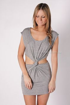 abbot cocktail dress - grey
