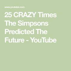 Did you know that there are times the Simpsons predicted the future? These crazy predictions have been scarily accurate. Simpsons Cartoon, Knowing You, Times, Math, Future, Future Tense, Math Resources, Early Math, Mathematics