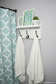 Photo Album Website Nice how to on a simple but cute bathroom hook rack and shelf at Dwelling in Happiness This cool project features our very affordable oil rubbed bronze