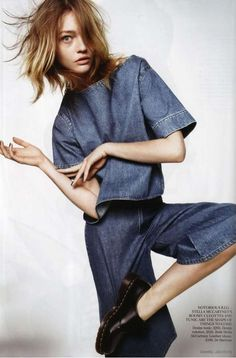 "Sasha Pivovarova by Daniel Jackson in ""Demob!"" Vogue UK February 2011"