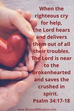 Scripture reminds us that the Lord is near to the brokenhearted. God is all-powerful, and He can handle every situation. He does not cause our suffering but is always with us to help us make it through. He will comfort us, and He will stay close to those who are hurting. What To Do When Life is Falling Apart  Krystal R Simpson  via @KrystalRSimpson Biblical Quotes, Faith Quotes, Bible Quotes, Quotes Quotes, Brother Birthday Quotes, Brother Quotes, Life Falling Apart, Little Boy Quotes, Bible Scriptures