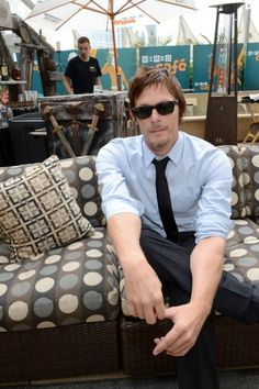 Norman Reedus I am a total sucker for men with ties and rolled up sleeves...