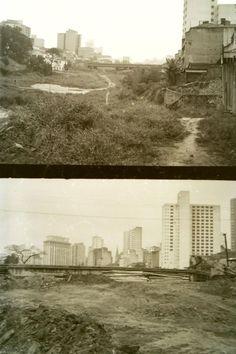 1966 - Rua Jaceguai em direção ao Vd. Cond. S. Joaquim - Foto Abaixo Direção Oposta
