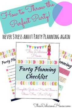Get the Perfect Party Planning Checklist and never stress about throwing a party again! This checklist will tell you exactly what you need to do to prepare for a party. Jojo Siwa Birthday, Barbie Birthday Party, Trolls Birthday Party, Frozen Birthday Party, Unicorn Birthday Parties, Girl Birthday, Baby Shower Checklist, Budget Baby Shower, Baby Shower Decorations For Boys