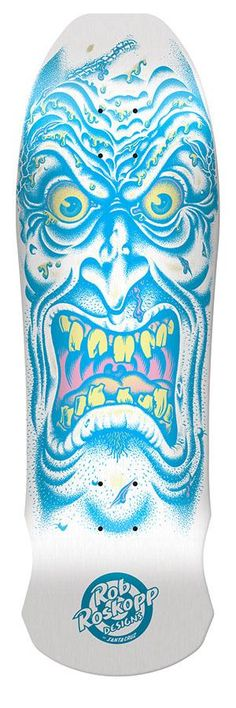 Santa Cruz Rob Roskopp Face Skateboard Deck White