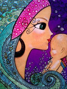 Romina Lerda Abstract Face Art, Fantasy Art Women, Diy Canvas Art, Hippie Art, Creative Artwork, Cartoon Design, Art Themes, Whimsical Art, Painting Patterns
