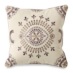 @Overstock - Florin Decorative Cream Throw Pillow - Give your decor a lift while also adding the finishing touch to your sofa, or bed with this embroidered decorative cotton throw pillow. The pillow contains a beautiful medallion pattern that adds a bit of artistry to the room's decorations.  http://www.overstock.com/Home-Garden/Florin-Decorative-Cream-Throw-Pillow/7571898/product.html?CID=214117 $20.99