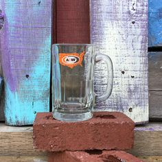 Your place to buy and sell all things handmade A&w Root Beer, Logo Mugs, W Logos, Us Map, Clear Glass, Etsy Store, 1970s, Nostalgia, Calm