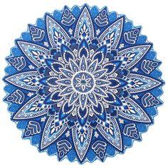 my shop: Blue Lotus Beach Towel Beach Roundie Towel Round Beach Throw Mandala Tapestry Round Picnic Roundie Over sized Circle Towel Mandala Throw, Mandala Tapestry, Mandala Art, Meditation Mat, Indian Mandala, Blue Lotus, Beach Blanket, Tapestry Wall Hanging, Dorm Decorations