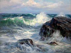 Американский художник Charles Vickery (1913-1998). Морской пейзаж. Часть 1.. Обсуждение на LiveInternet - Российский Сервис Онлайн-Дневников