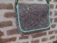 Sac besace bandoulière réglable en laine et fibres mélangées, doublé en coton par FeeHome, Etsy Shop