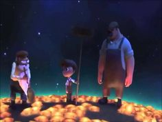 La luna, 2011 by PIXAR. La Luna is the timeless fable of a young boy who is coming of age in the most peculiar of circumstances. Tonight is the very first time his Papa and Grandpa are taking him to work. In an old wooden boat they row far out to sea, and with no land in sight, they stop and wait. A big surprise awaits the little boy as he discovers his family's most unusual line of work.