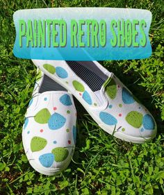 Painted Retro Shoes with craft paint and fine tip marker!
