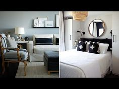 Interior Design — 6 Expert Tips To Make A Rental Feel Like Home - I like the mix of black, white, & gray...a nice balance of contemporary & traditional