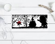 The Beauty of a Beast Signed PaperCut Print Beauty and the Snow White Apple, Cutting Quotes, Brothers Grimm, A Beast, Paper Dimensions, Sign Printing, Pottery Painting, Painting Patterns, Beautiful Hands