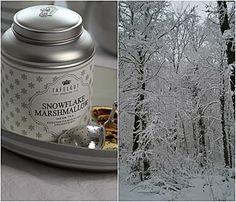 Schnee und Teepause mit veganen Meringues