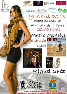 19 abril. Concierto Miguel Saez y Mario Mendes