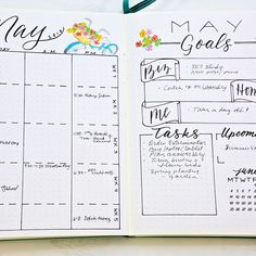 "May #monthlyspread. I think I like separating my planned events between ""all day"", ""A.M"", and ""P.M'. Just feels slightly more organized. . . . #plannermom #bulletjournal #bulletjournaling #bulletjournaljunkies #bujojunkies #bulletjournalcommunity #bujolove #showmeyourplanner #bulletjournallove #bujoinspire #planner #planning #planneraddict #bujo #plannernerd #handlettered #handlettering #calligraphy #leuchtturm1917 #moderncalligraphy #brushlettering #brushcalligraphy #lettering"