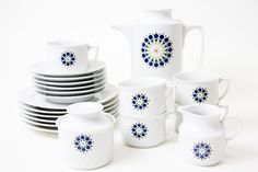 20tlg. 70er Jahre Kaffeeservice von Schirnding von DECORATIVE ART GALLERY auf DaWanda.com