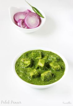 Palak paneer recipe with step by step photos. Easy recipe of paneer cooked in palak gravy. Healthy nutritious & delicious dish from north Indian cuisine