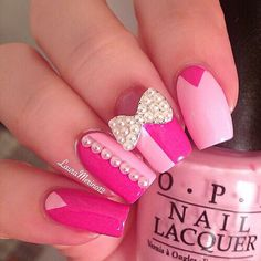 This would look with darker colors too! I'm thinking black and teal with silver bow and a shimmery top coat!!