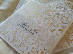 Monogram wedding invitations 25 gold pocket wedding invitation w intials. Elegant wedding Invite with 3 wedding info cards in  GLAM pocket by InvitationsbyTango on Etsy
