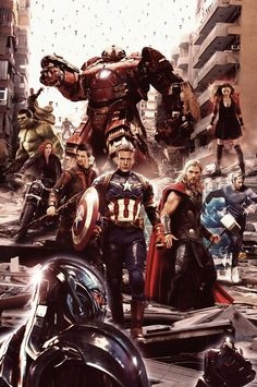 #Avengers #Fan #Art. (AVENGERS : AGE OF ULTRON) By: N8MA. [THANK U 4 PINNING!!]