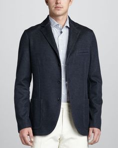 Melange Sweater Jacket by Loro Piana at Bergdorf Goodman.