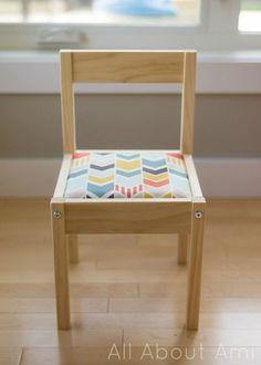 IKEA LATT hack: Padded chairs and plexiglass top